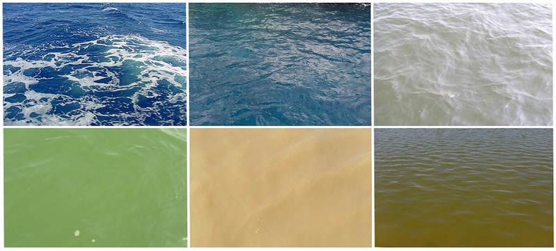Colour of natural waters // fig1_6xcolourofsea.jpg (312 K)